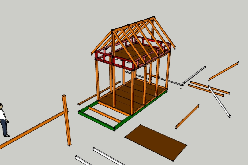 Malleta 10x12 gambrel shed plans custom chrome for Material list for shed