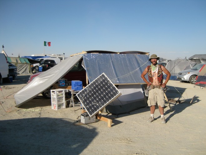 Solar tracker in front of my camp at Burning Man