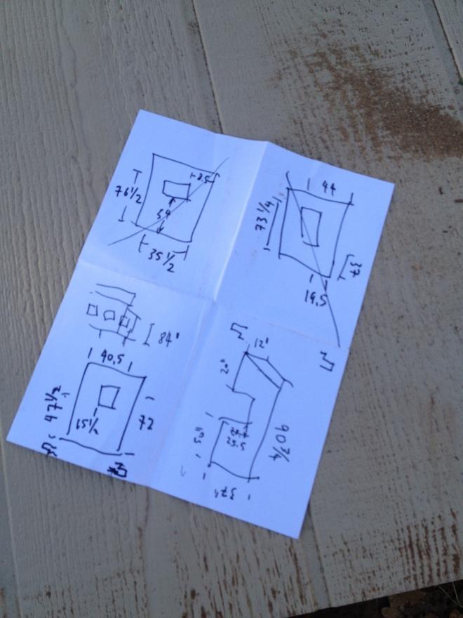 Measurements for all the custom-cut panels